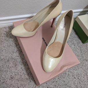 Miu Miu Nude Patent Leather Heels Size 39/9